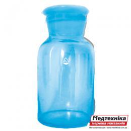 """Бутыль для реактивов с притертой пробкою 500 мл прозрачное стекло, ПАО """"Стеклоприбор"""""""