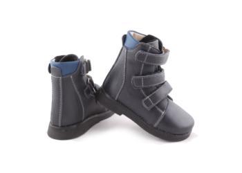 Ботинки ортопедические осенние ОРТОФУТ 721 синие