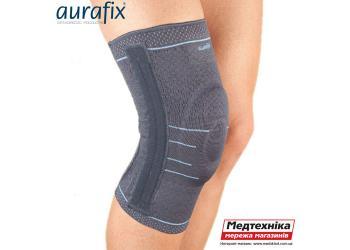 Видео. Ортопедический наколенник Aurafix 114 с 4 ребрами жесткости и силиконовым кольцом | Аурафикс