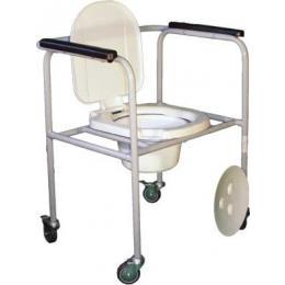 Стул туалетный стальной нерегулир.на колесиках СТР-2.1.0