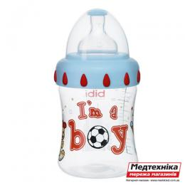 Антиколиковая бутылочка с широким горлышком (150 мл) Биби I'm a boy