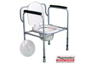 Стул туалетный стальной регулируемый складной СТС-1.1.0