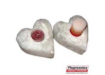Солевой подсвечник Два Сердца 2 кг ТМ Соляна
