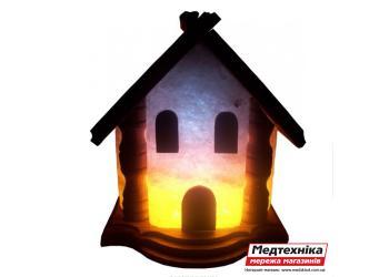 Лампа соляная Домик 5-6 кг цветная