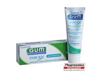 Зубная паста GUM Paroex 0,06% CHX профилактика зубного налета, 75 мл