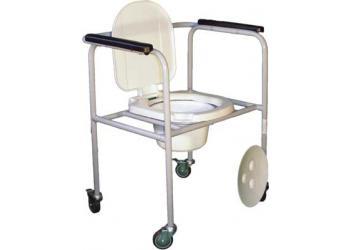 Стул туалетный стальной регулируемый на колесах СТР-1.1.0
