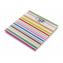 Весы стеклянные GS-27 Happy Stripes Beurer