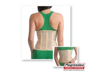 Бандаж поясничный Med textile 4001 с 3-мя ребрами жесткости