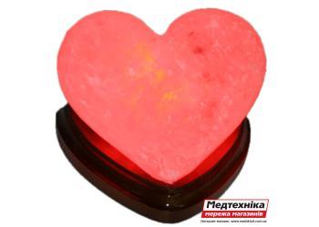 Лампа солевая Сердце алое 2 кг