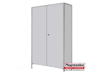 Шкаф для халатов цельнометаллический двустворчатый ШХМ-2, Zavet