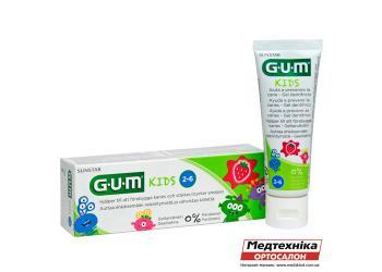 Зубная паста-гель GUM Kids для детей 2-6 лет, 50 ml