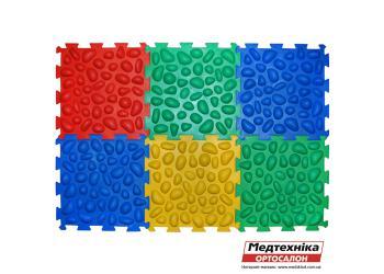 Массажный коврик Ортек Пазлы 6 элементов с эффектом морской гальки