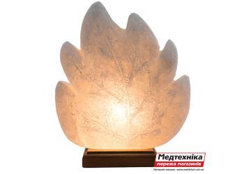 Лампа солевая Лист резной 2 кг