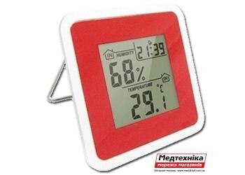 Термо-гигрометр цифровой с часами Т-07, Стеклоприбор