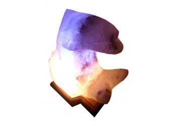 Лампа солевая Дельфин цветной