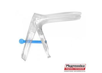 Зеркало JS гинекологическое одноразовое с поворотно-зубчатой фиксацией р.M