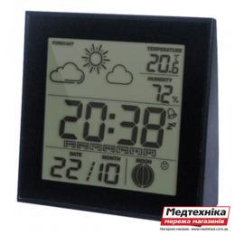 Цифровой термометр-гигрометр с часами Т-06, Стеклоприбор