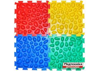 Массажный коврик Ортек Пазлы 4 элемента с эффектом морской гальки
