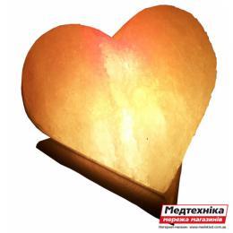 Лампа соляная Сердце цветное 4-5 кг