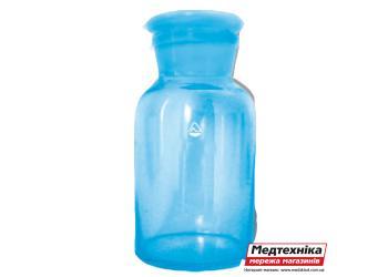 Бутыль для реактивов с притертой пробкою 1000 мл прозрачное стекло, ПАО