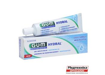 Увлажняющий гель GUM Hydral при повышенной сухости во рту, 50 мл