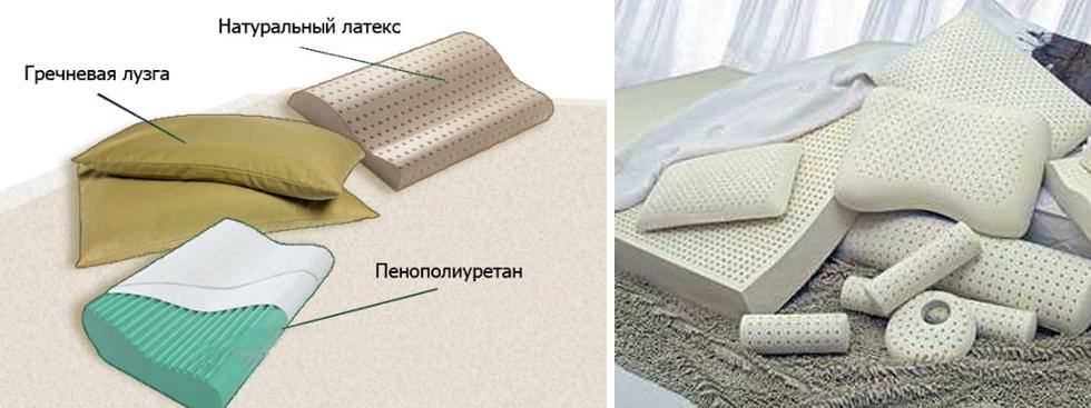 Материалы ортопедических подушек