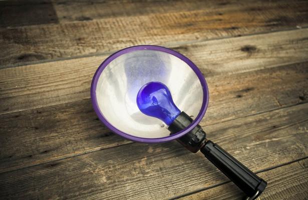Купить синюю лампу недорого