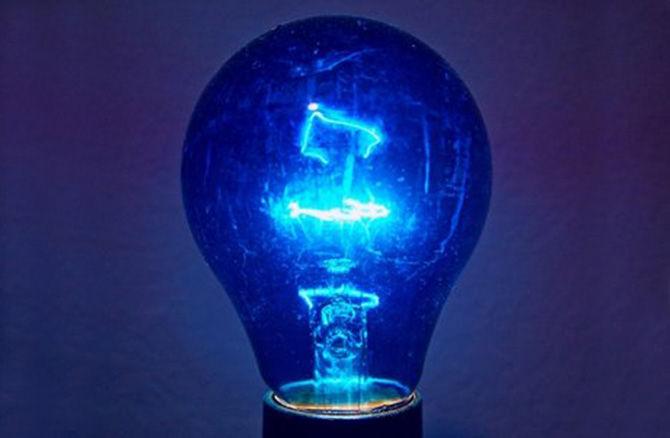 Купить синюю лампу